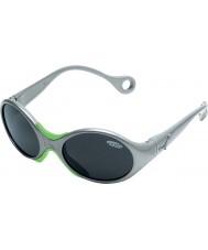 Cebe 1973 (ålder 1-3) glänsande metalliska grå 2000 grå solglasögon