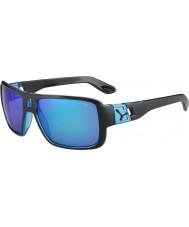 Cebe Lam matt svart 1500 grå flash spegel blå solglasögon