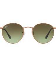RayBan Rb3447 53 runda metall glänsande medel brons 9002a6 solglasögon