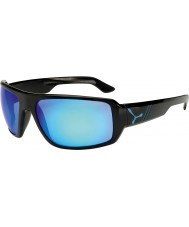Cebe Maori glänsande svart blå solglasögon