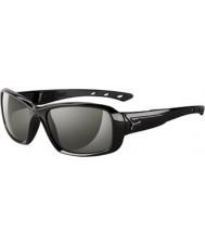 Cebe S-kyss blanka svarta solglasögon