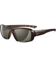 Cebe S-kyss glänsande brun savann solglasögon