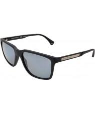 Emporio Armani Ea4047 56 moderna svart gummi 506.381 polariserade solglasögon