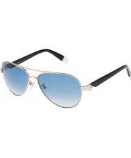 Furla Ladies jade su4339s-300 glänsande steg guld speglade silver solglasögon