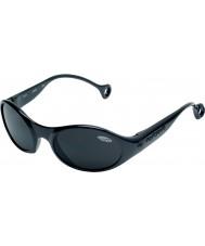 Cebe 1977 (ålder 3-5) blanka glansiga svarta 2000 grå solglasögon