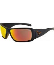 Cebe Utopy matt svart apelsin solglasögon
