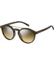 Marc Jacobs Marc 107-s n9p gg matt Havana silver spegel solglasögon