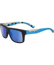 Bolle Clint matt svart blå polarise gb-10 solglasögon