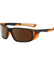 Cebe ProGuide mattsvart apelsin 2000 brun flash spegel solglasögon