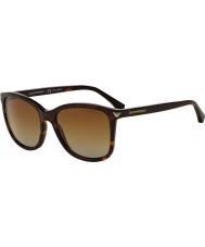 Emporio Armani Ea4060 56 väsentlig fritid Havana 5026t5 polariserade solglasögon