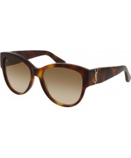 Saint Laurent Ladies sl m3 005 55 solglasögon
