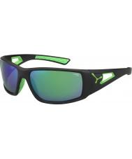 Cebe Sessions svart grön 1500 grå spegel gröna solglasögon