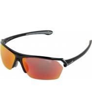 Cebe Vilda glänsande svart skikts solglasögon