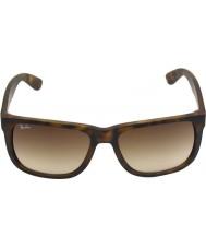 RayBan Rb4165 51 justin gummi ljus Tortoiseshell 710-13 solglasögon