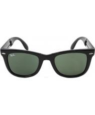 RayBan Rb4105 50 fällbara wayfarer svarta 601 solglasögon