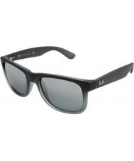 RayBan Rb4165 55 justin gummi grå 852-88 solglasögon