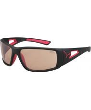 Cebe Session matt svart röd variochrom perfo solglasögon