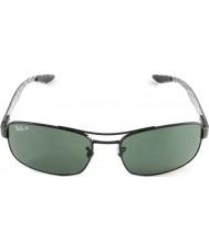 RayBan Rb8316 62 tech kolfiber svart grön 002-N5 polariserande solglasögon