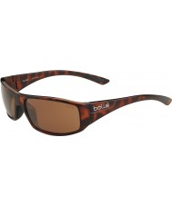 Bolle Weaver glänsande sköldpaddsskal polariserad a-14 solglasögon