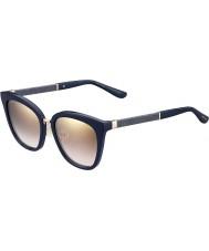 Jimmy Choo Damer Fabry-s KCA nh blå glittrande guld spegel solglasögon