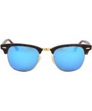 RayBan Rb3016 clubmaster sandsköldpadda - blå spegel