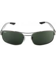 RayBan Rb8316 62 tech kolfiber Gunmetal grön 004 solglasögon