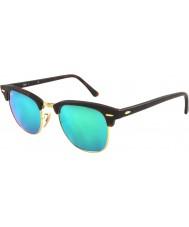 RayBan Rb3016 51 Club sand sköldpaddsskal-guld 114519 gröna spegel solglasögon