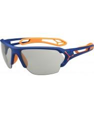 Cebe S-track stor matta blå apelsin variochrom PERFO solglasögon