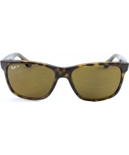 RayBan Rb4181 57 highstreet ljus sköldpaddsskal 710-83 polariserade solglasögon
