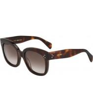 Celine Damer cl 41805-s 05L ha sköldpadd solglasögon