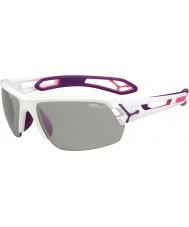 Cebe S-track medel vita lila variochrom PERFO solglasögon