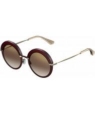 Jimmy Choo Ladies Gotha-s 65L QH burgundy guld spegel solglasögon