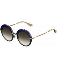 Jimmy Choo Ladies gotha-s 3ue js blå guld solglasögon
