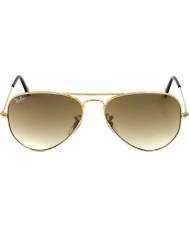RayBan RB3025 58 flygare stor metall guld 001-51 solglasögon