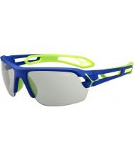 Cebe S-spår medel mörkblå grön variochrom PERFO solglasögon