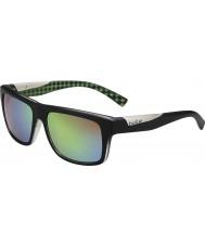Bolle Clint mattsvart kalk polarise bruna smaragd solglasögon