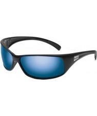 Bolle Rekyl blanka svarta polarise offshore blå solglasögon
