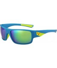 Cebe Whisper matt blå kalk 1500 grå flash spegel gröna solglasögon