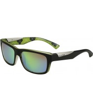 Bolle Jude mattsvart kalk polarise bruna smaragd solglasögon