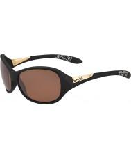 Bolle Grace matt svart polariserad sandsten gun solglasögon