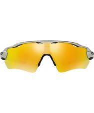Oakley Oo9208-02 radar ev väg silver - fire iridium solglasögon
