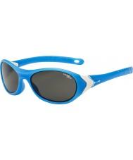 Cebe Cricket (okänd 3-5) Matt cyan vita 1500 grå blått ljus solglasögon