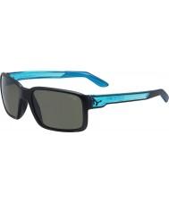 Cebe Dude matt svart kristall blå solglasögon