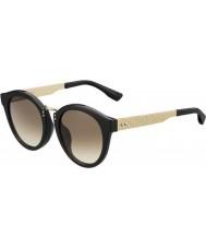 Jimmy Choo Damer Pepy-s QFE jd svart steg guld solglasögon