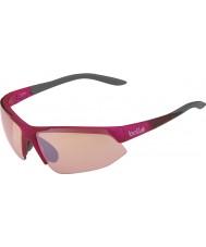 Bolle Utbrytning glänsande rosa grå modulator ros gun solglasögon
