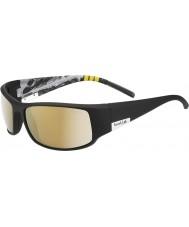 Bolle Kung glänsande svart berg polariserad ag-14 solglasögon