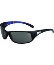 Bolle Rekyl matt blå ränder modulator polariserad gråa solglasögon