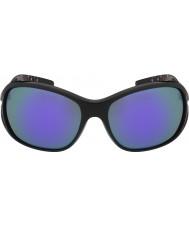 Bolle Sölden blanka svarta blå-violett solglasögon