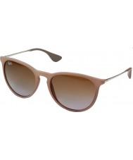 RayBan Rb4171 54 erika mörkt gummi sand 600068 solglasögon