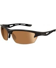 Bolle Bolt glänsande svart modulator v3 golf solglasögon